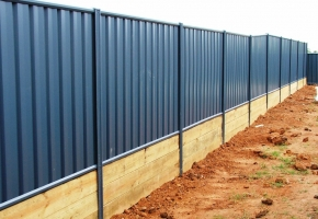 Lysaght Fence with sleepers