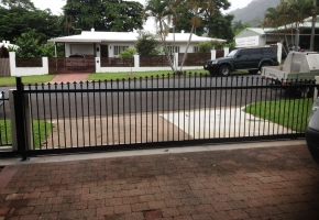 Arched Spear Sliding Gate