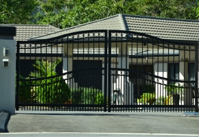Arched Enclosed Ring Double Gate