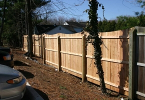 Timber Arched Squae Post Fence