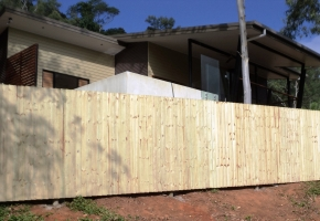 Timber fence With Palings