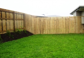 Timber fence return